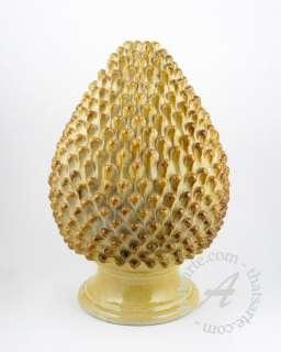 Handmade Italian Ceramic Pine Cone & Table Lamp Tuscany