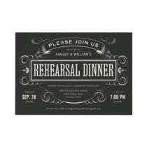 Unique Vintage Rehearsal Dinner Invitations by UniqueInvites