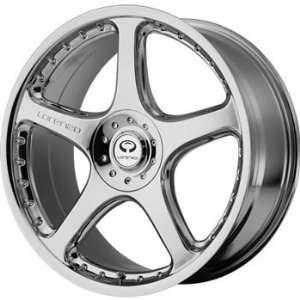 Lorenzo WL028 18x8 Chrome Wheel / Rim 5x4.5 & 5x120 with a 20mm Offset