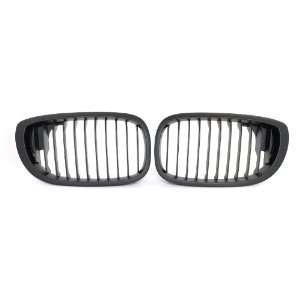 BMW E46 2004 2006 3 SERIES COUPE MATTE BLACK GRILLES