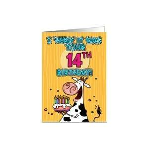 I Herd It Was Your Birthday 14 Years Old Card Toys Games