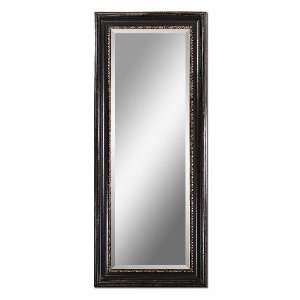 Uttermost 14199 Bernia   Mirror, Distressed Black Frame Finish with