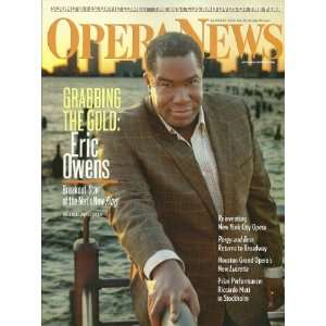 Opera News Magazine January 2012 Eric Owens, Reinventing New