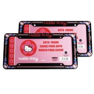 License Plate Frame   Sanrio Love Hello Kitty Hearts Automotive