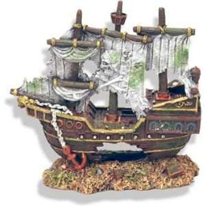 Resin Ornament   Sunken Pirate Shipwreck: Pet Supplies