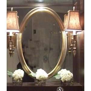 Stunning Large Luxury SILVER LEAF Oval Wall Mirror 31