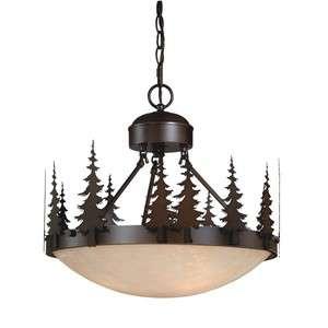 NEW 3 Light Rustic Tree Pendant OR Semi Flush Lighting Fixture