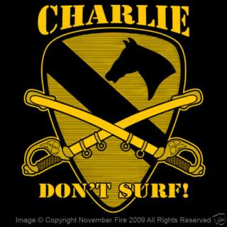 Charlie Don't Surf Shirt Air Cavalry Apocalypse Now