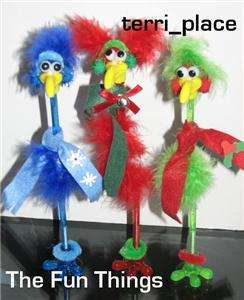 12 MARABOU BIRD HOLIDAY PEN CRAFT KITS KIDS PARTY CRAFT
