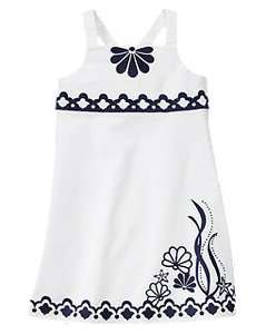 Seashell Embroidered WHITE Dress Cape Cod Cutie COLLECTION $36.95