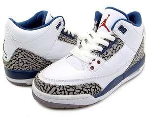 Nike Air Jordan 3 III GS True Blue/White/Red 398614 104 Boy Girl Youth