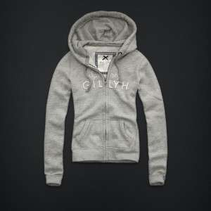 Gilly Hicks Sydney hoodie shirt waverton by ABERCROMBIE & FITCH grey