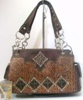 MONTANA WEST RHINESTONE CROSS WESTERN PURSE HANDBAG