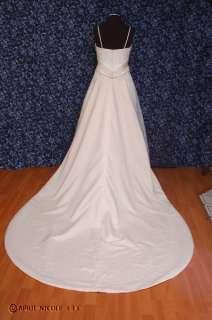 Zurc for Impression Ivory & Blush Satin w/ Organza Wedding Dress 12