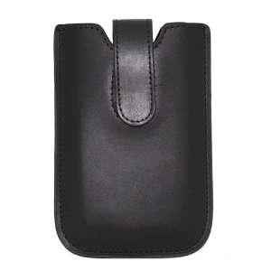 Black Genuine Leather Case for Apple iPhone 3G iPhone 3GS iPhone 4