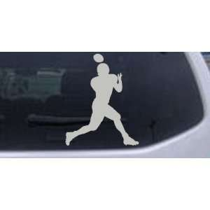 Silver 20in X 16.0in    Football Player Sports Car Window Wall Laptop