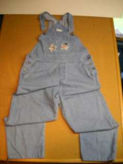 Christopher Banks Womens Overalls Jeans Cute Large Size 14 Snowmen B16