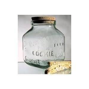 Global Amici Glass Cookie Jar With Cork Top   10.5 Ounces