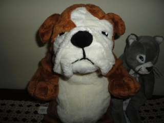 Ikea GOSIG BULLDOG & KATT Cat & Dog Plush Lot