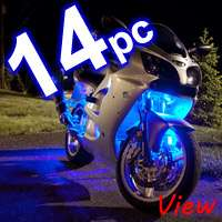 8pc Advanced 7 Color LED SMD Motorcycle Neon Light Kit