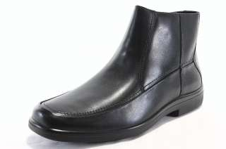 Hush Puppies Gain H12412 Mens Shoes Black Leather Zippered Dress
