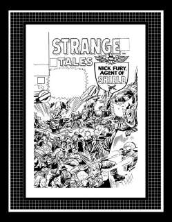 Jack Kirby Strange Tales #145 Rare Production Art Cover