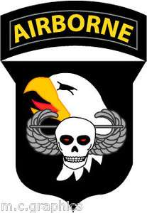 STICKER US ARMY UNIT 101st Airborne Div. ASSUALT