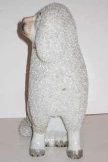 Antique English Staffordshire Poodle Dog Figurine