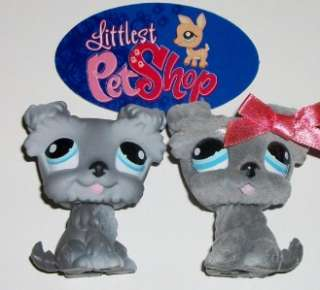 PUPPY DOG LOT~#1066 FUZZY & #1393 SMOOTH~Littlest Pet Shop Z90