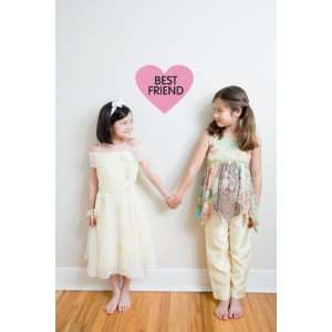 Wall Decal   Best Friend (in a heart)   selected color Dark Green