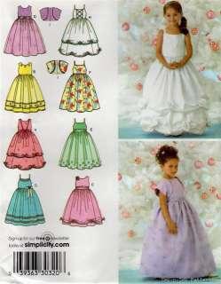 Girls Bridesmaid Flower Girl Fancy Dress Gown PATTERN