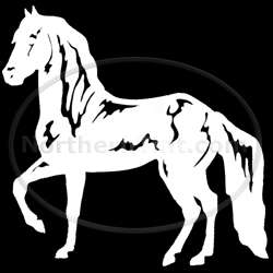 Horse rodeo vinyl wall art car truck decal sticker 142