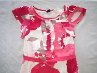 NWT Gap Kids Edie Floral Ruffle Placket Dress 4 5 6 7 8 10 12 Young At