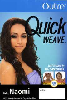 Outre Quick Weave Long Curly Half Wig Naomi