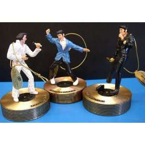 LARGE ELVIS PRESLEY MUSICAL ORNAMENT COLLECTION