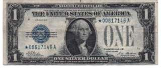 Series 1928 A $1 Small Note Silver Certificate Star Note One Dollar