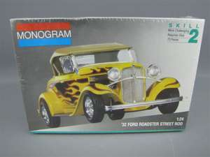 Monogram 1932 Ford Roadster Street Rod Model Kit MIB FS
