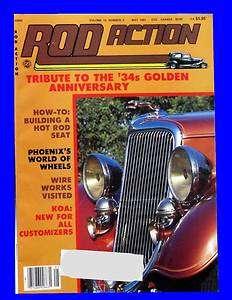 ROD ACTION MAY 1984,RARE1937 PLYMOUTH PICK UP,1934 FORD TUDOR SEDAN