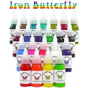Iron Butterfly Tattoo Ink   1 oz Bottle of Ink   Camo