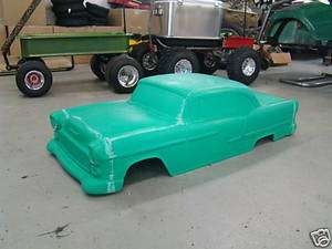 1955 Chevy Belair Coupe Hot Rod Stroller Pedal Car Custom Fibergalss