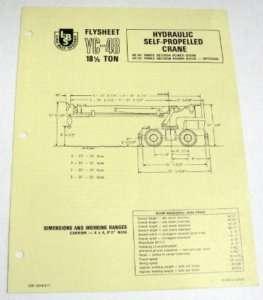 Link Belt 1972 YC 48 18 1/2 Ton Crane Sales Brochure