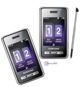 New Unlocked Samsung D980 Duo Cell Phone GSM BK