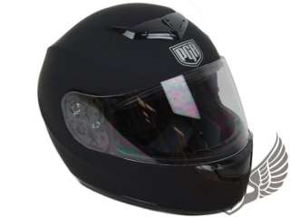 Full Face motorcycle Helmet Matte Flat Black DOT~L