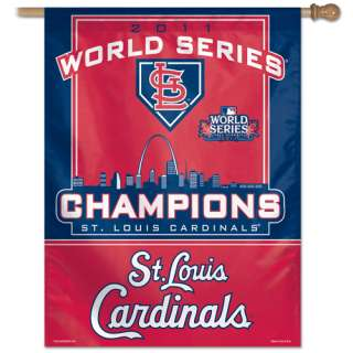 ST. LOUIS CARDINALS ~ 2011 World Series Champions House Flag Banner