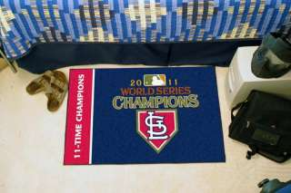 St. Louis Cardinals 2011 World Series Champions 20x30 Starter Area Rug