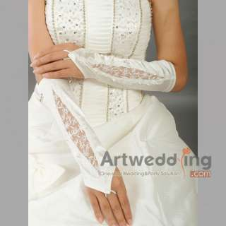 NEW 11 Satin & Lace Party/Evening/Bridal Wedding Gloves Elbow