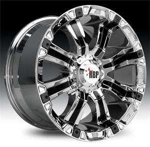 RBP 94R 20x9 Chrome W/Black Insert Wheels All Truck/SUV