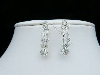 Bridal Rhinestone Crystal Wedding Necklace Earrings set 2240
