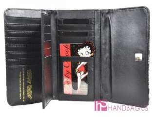 This adorable Betty Boop handbag is constructed of premium leathrette
