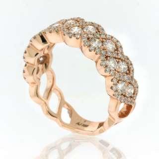 40ct Rose Gold Round Cut Diamond Ring
